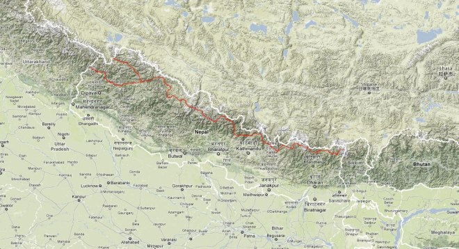 google-maps-nepal-great-himalaya-trail-route-map